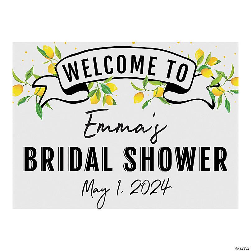 Personalized Lemon Bridal Shower