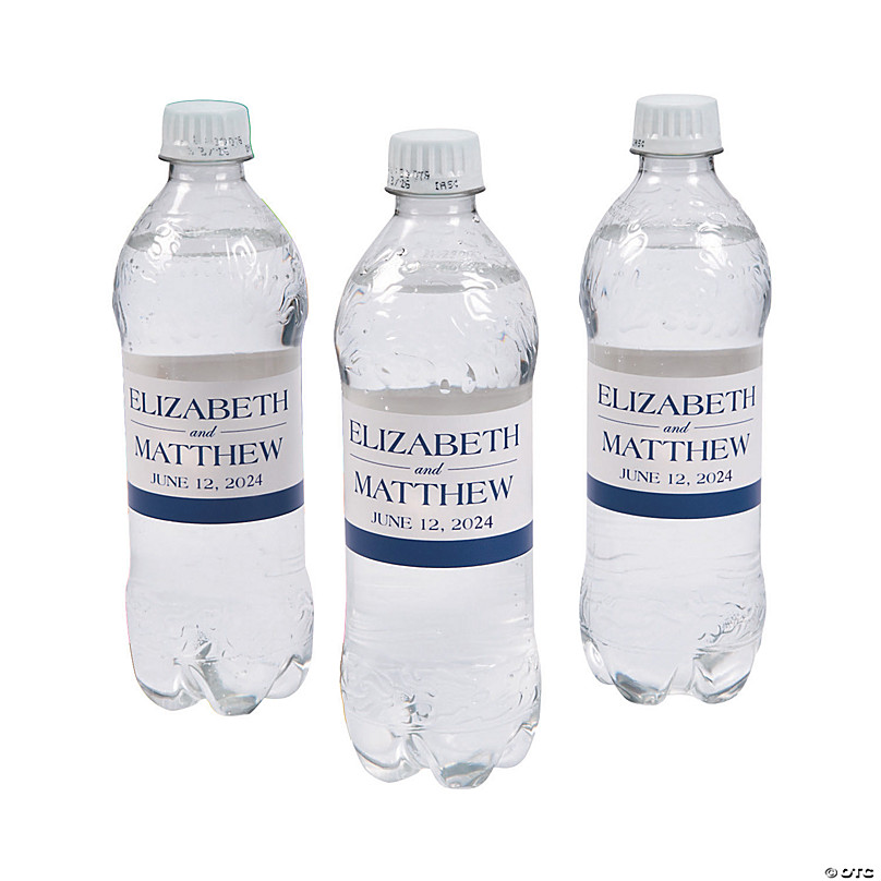 Personalized Simple Water Bottle Labels Oriental Trading
