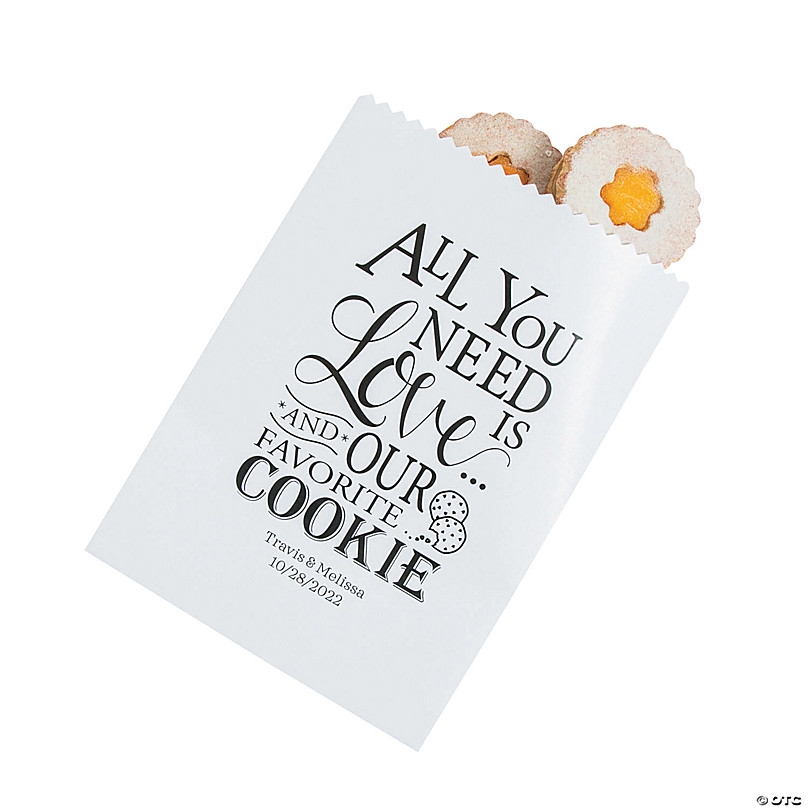 Personalized Wedding Cookie Treat Bags