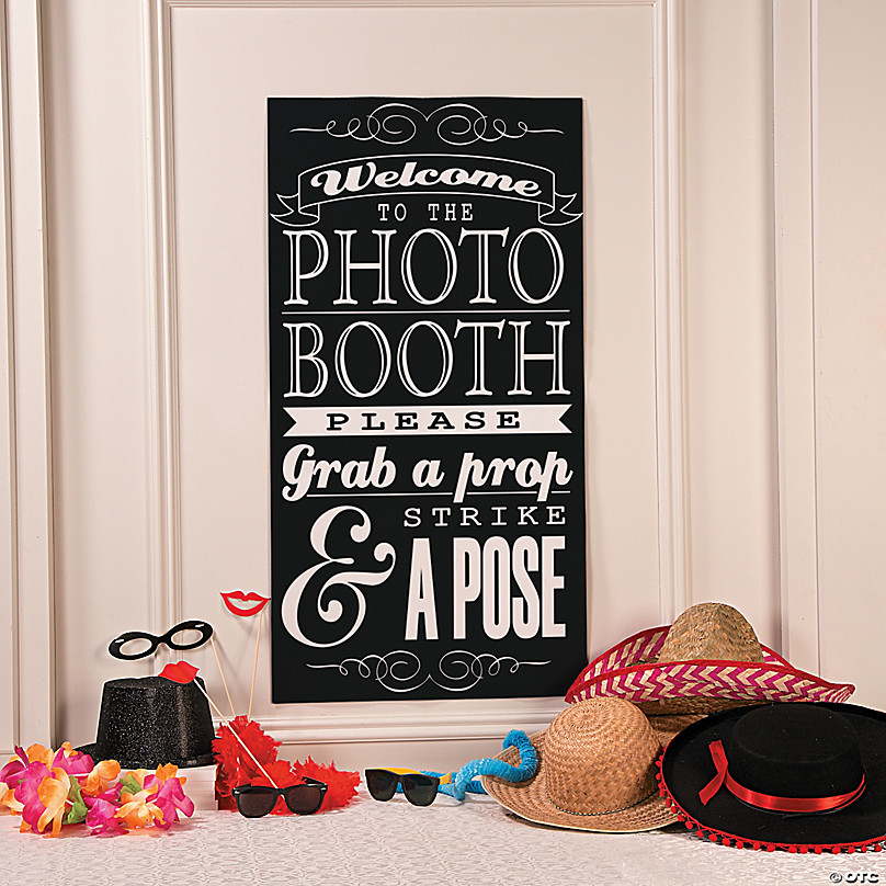 Photo Booth Instructions Wall Decoration Oriental Trading