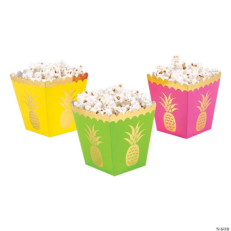 Pineapple Popcorn Boxes Oriental Trading