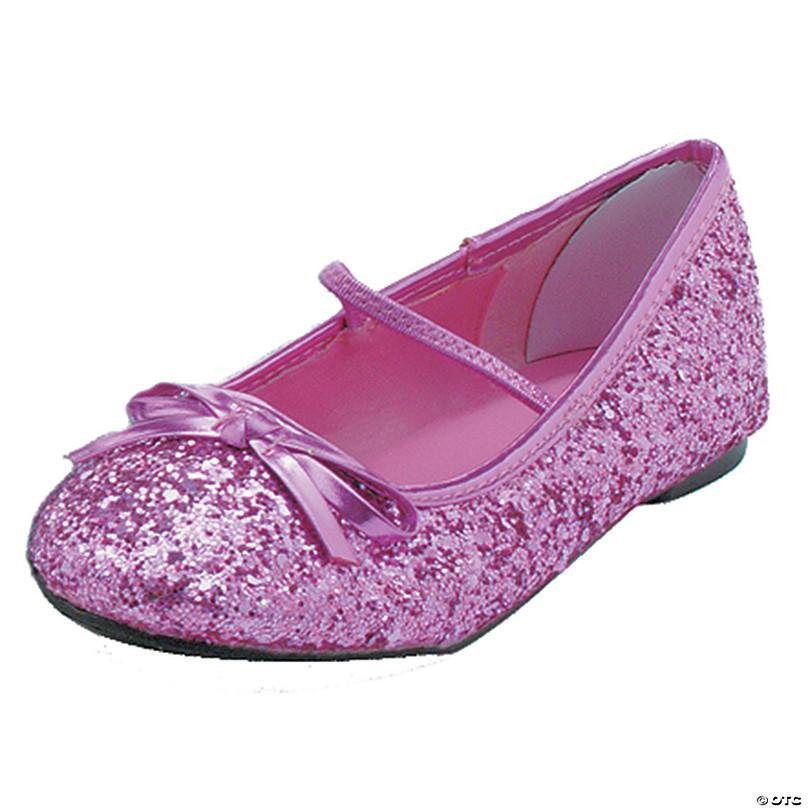 Pink Glitter Ballet Shoes   Oriental