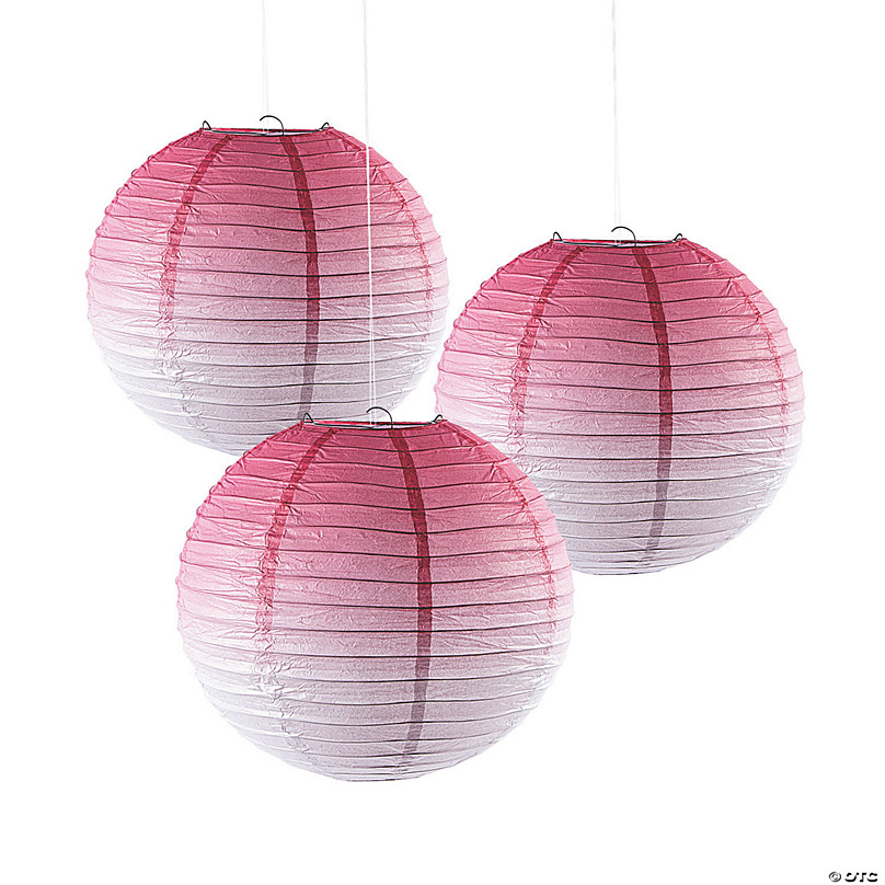 "Lovely Pink 10/"" Paper Hanging Lantern Decoration"