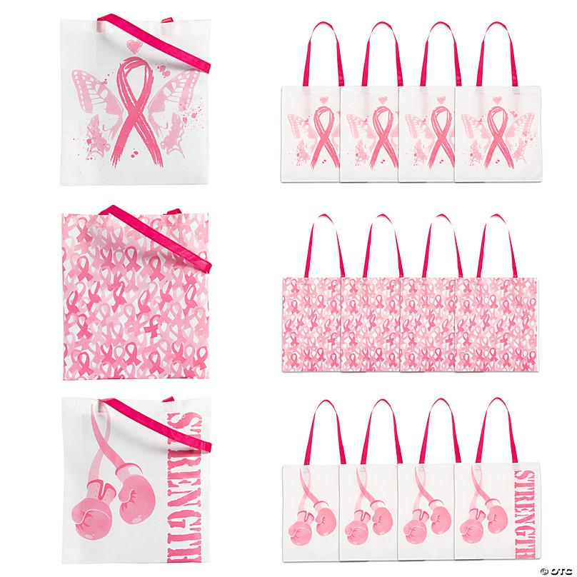 Pink Ribbon Tote bags