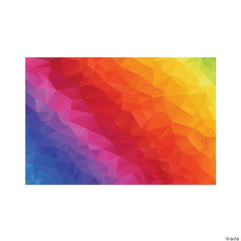 Rainbow Backdrop Oriental Trading