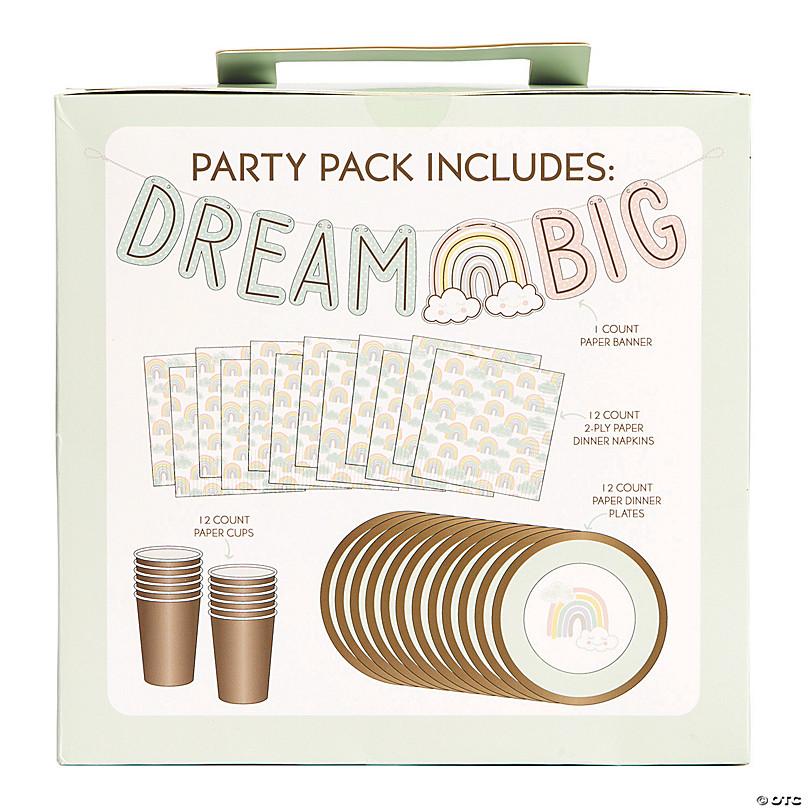 Rainbow Dream Tableware Kit For 12 Oriental Trading