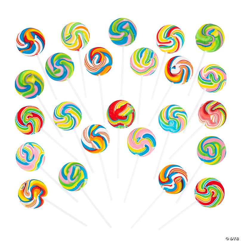 Printed Rainbow Jumbo Swirl Lollipop Rainbow Themed Lollipop Custom Candy Favor Rainbow Jumbo Swirl Lollipop Rainbow Themed Lollipop