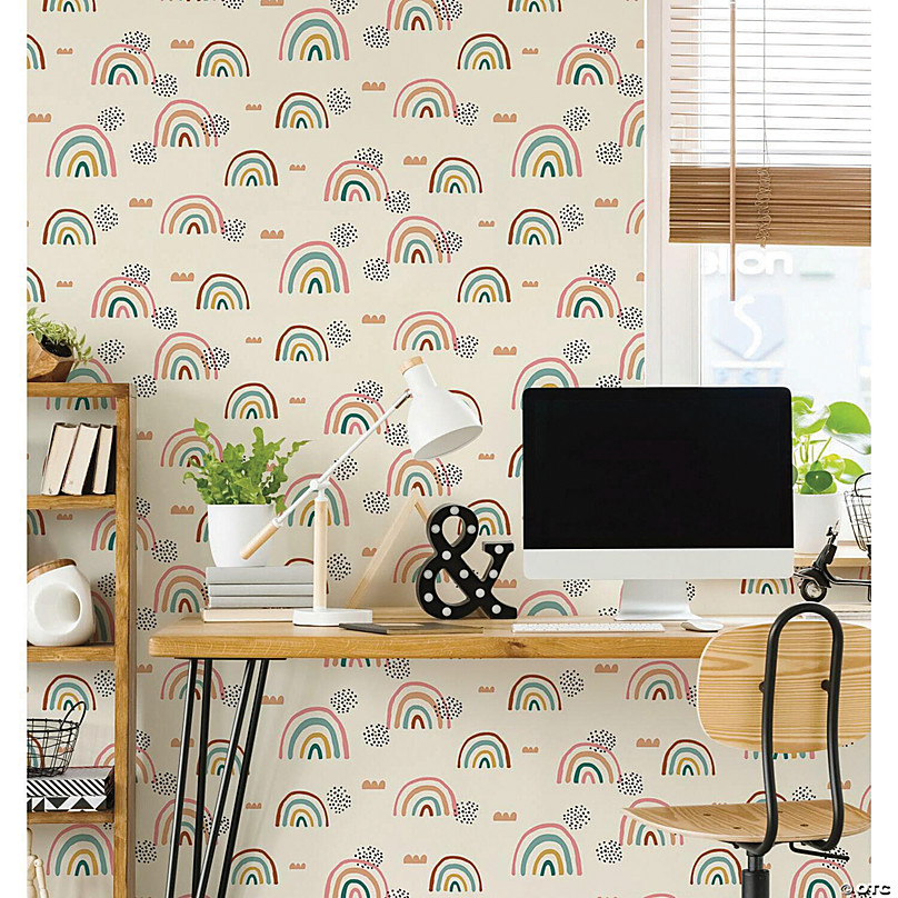 roommates rainbows end peel and stick wallpaper~13989407 a01