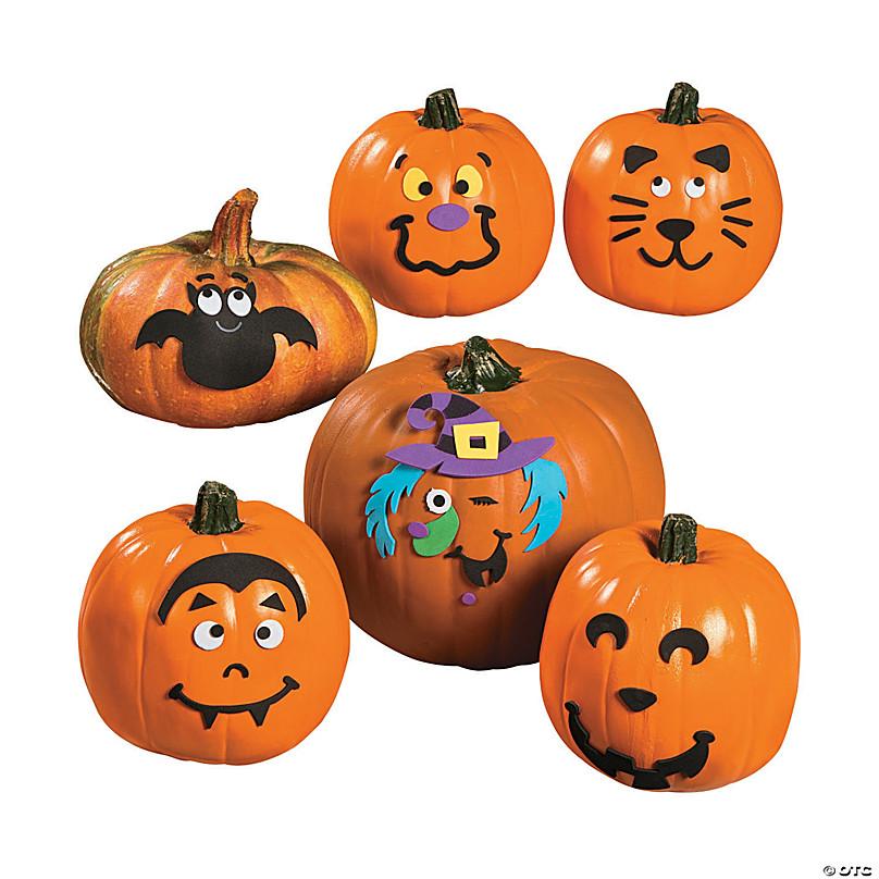 Foam Pumpkin Craft Stickers for Kids DTY Jack-O-Lantern Foam Pumpkin Decorating Craft Kit for Halloween WINCHY Pumpkin Decorations