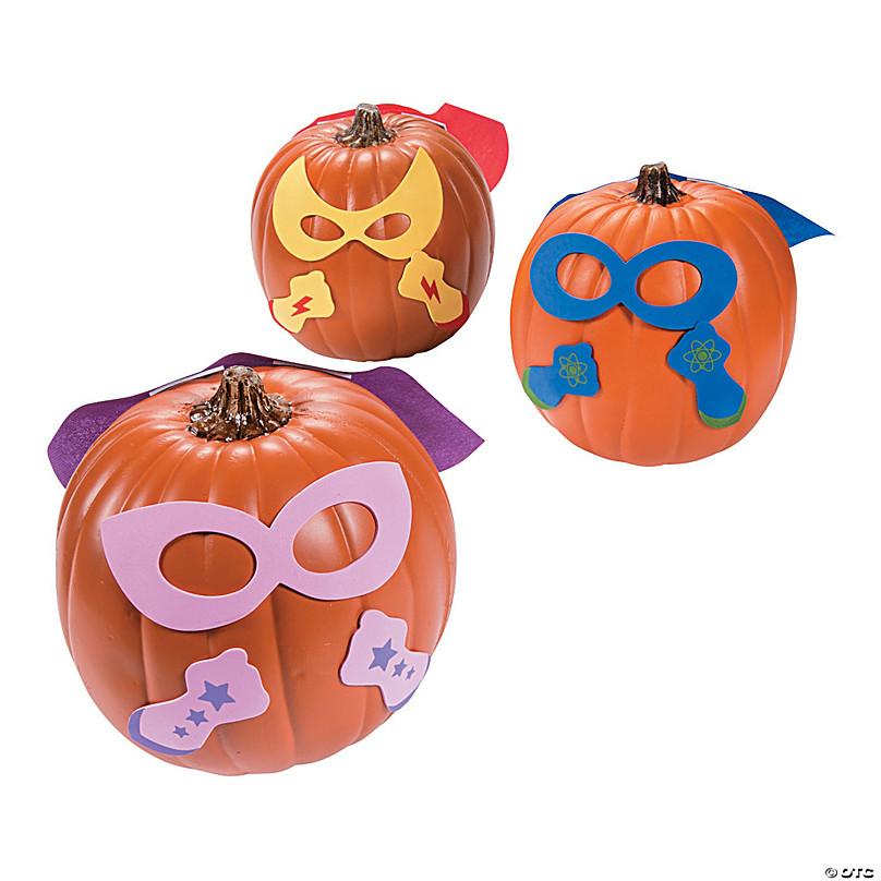 Superhero Pumpkin Decorating Craft Kit Oriental Trading