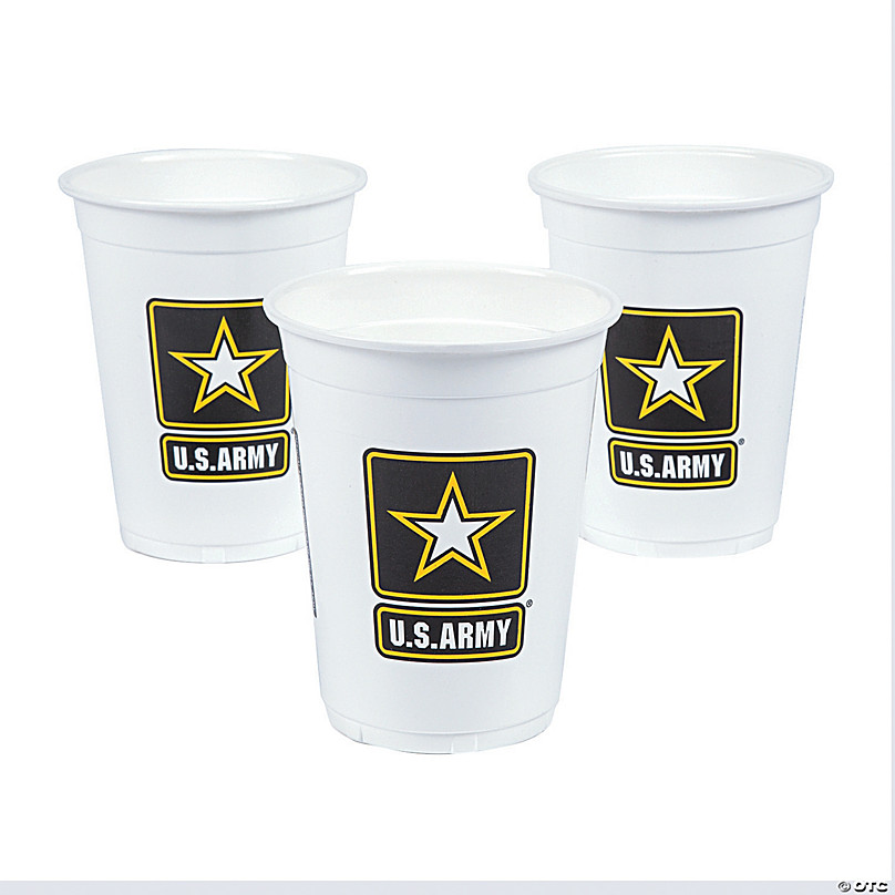 U S Army Disposable Plastic Cups Oriental Trading