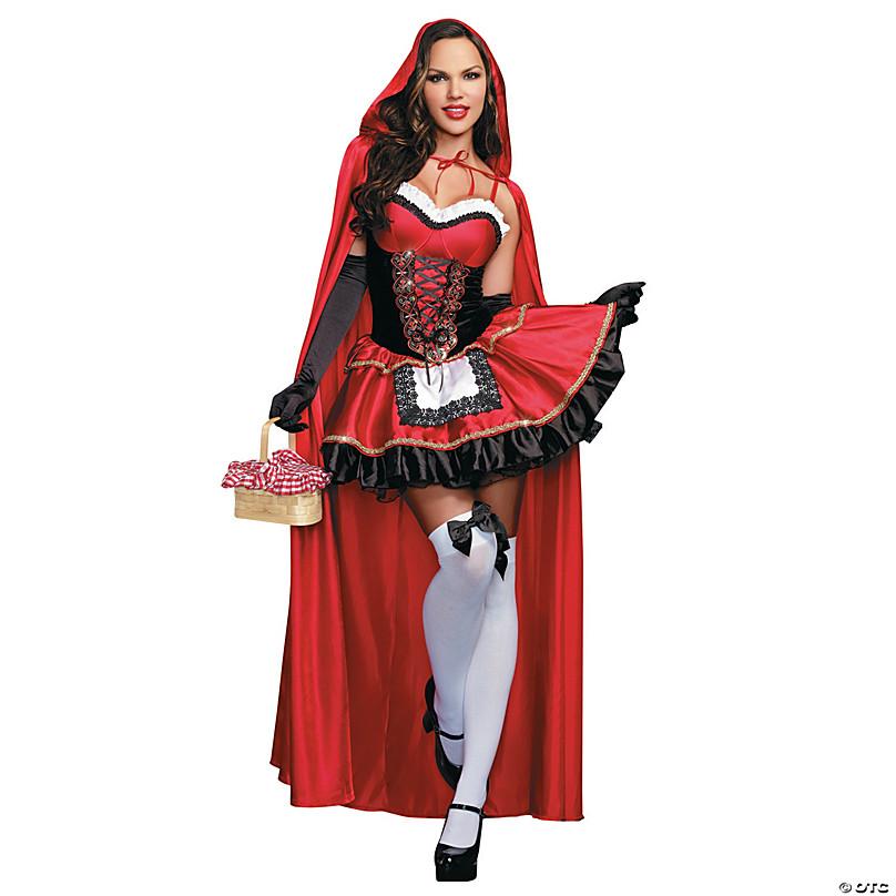 Halloween 2020 Little Red Riding Hood Costume Women's Sexy Little Red Riding Hood Costume | Oriental Trading