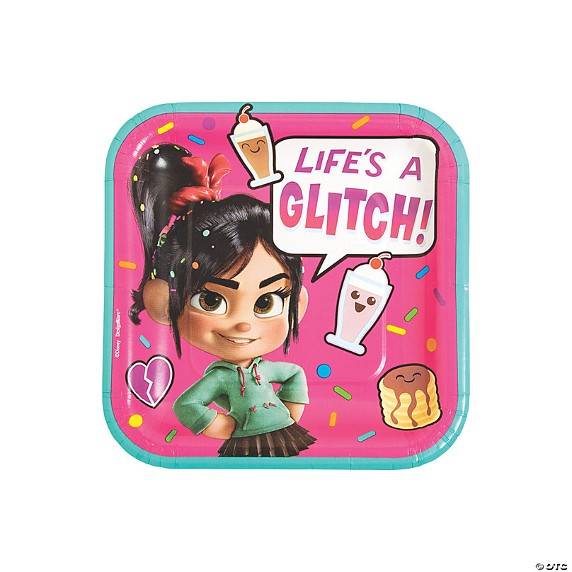Disney Wreck-It Ralph 2 Ralph Breaks the Internet Birthday Party Supply Pack for 8 Guest Lunch Plates, Napkins, Cups, Table cover, Swirl Decorations
