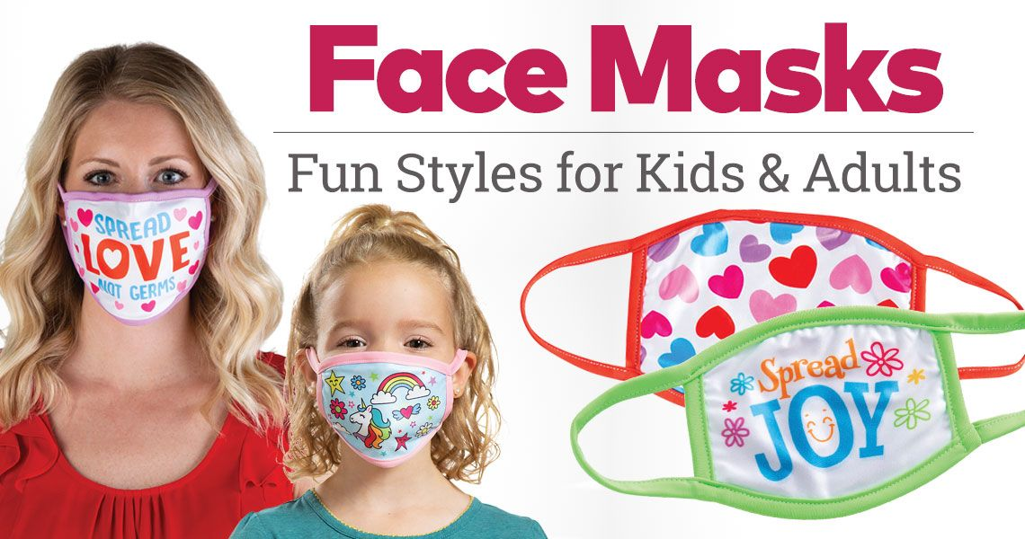Face Masks - Fun Styles for Kids and Adults