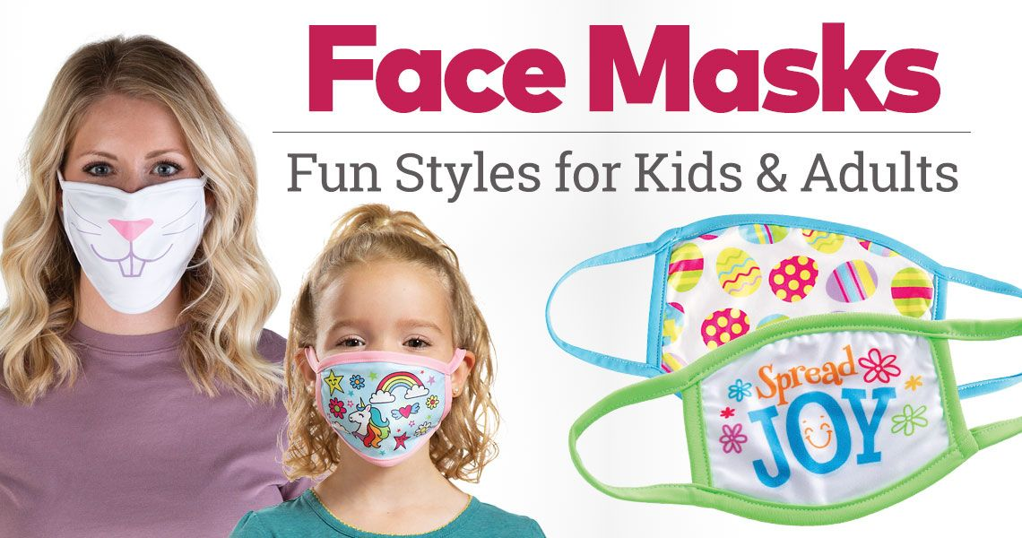 Face Masks for Kids & Adults