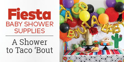 Fiesta Baby Shower Supplies. A shower to taco 'bout