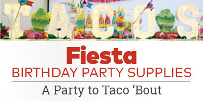 Fiesta Birthday Party Supplies - A Party to Taco 'Bout