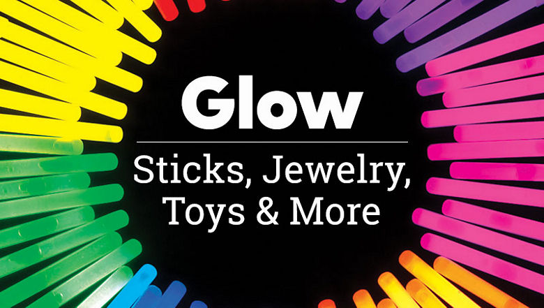 Glow. Sticks, jewelry, toys and more
