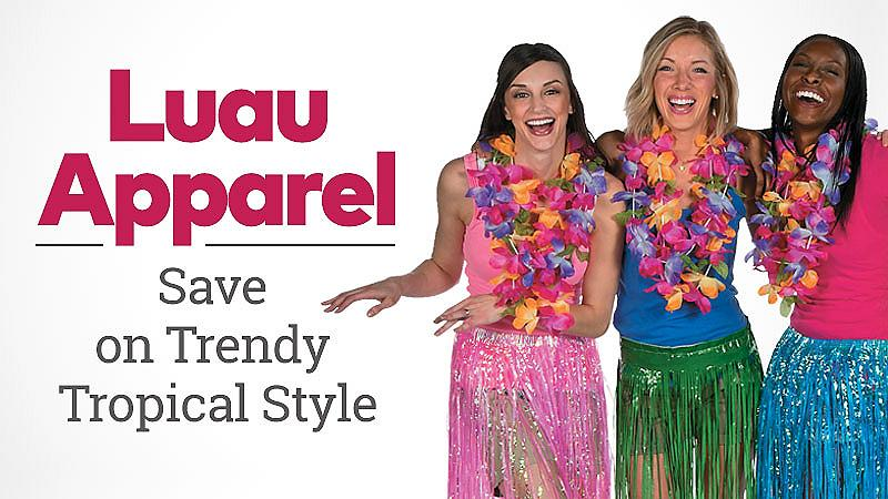 Luau Apparel - Save on trendy tropical style