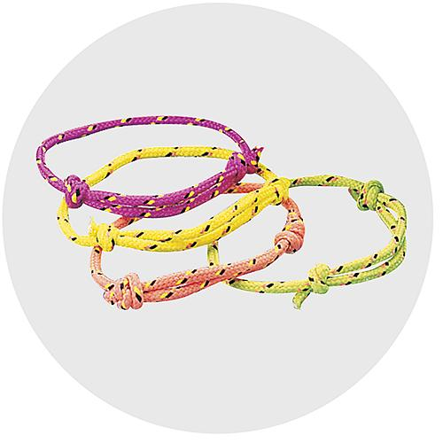 Bracelets Types Friendship Charm Paracord Rubber Slap