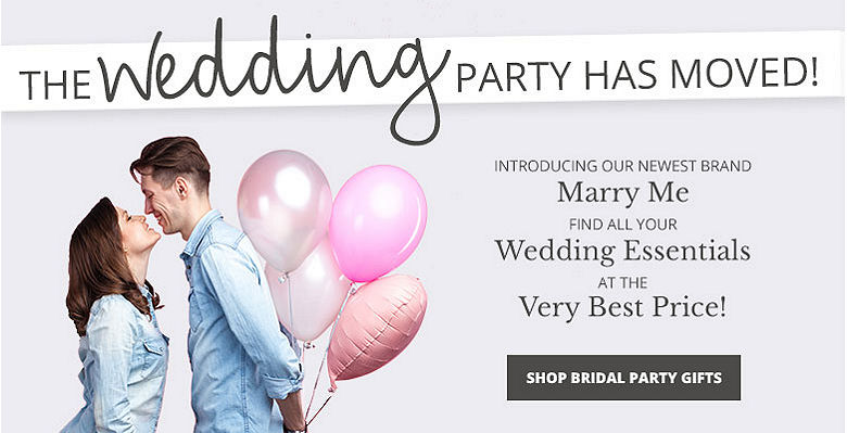 Shop Bridesmaids Gifts - Visit our new wedding website Marry Me. Find all your wedding essentials at the very best prices.