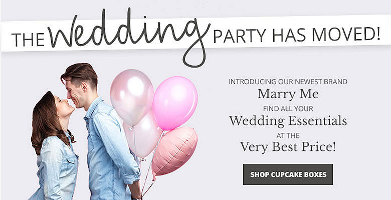 Shop cupcake boxes - Visit our new wedding website Marry Me. Find all your wedding essentials at the very best prices.