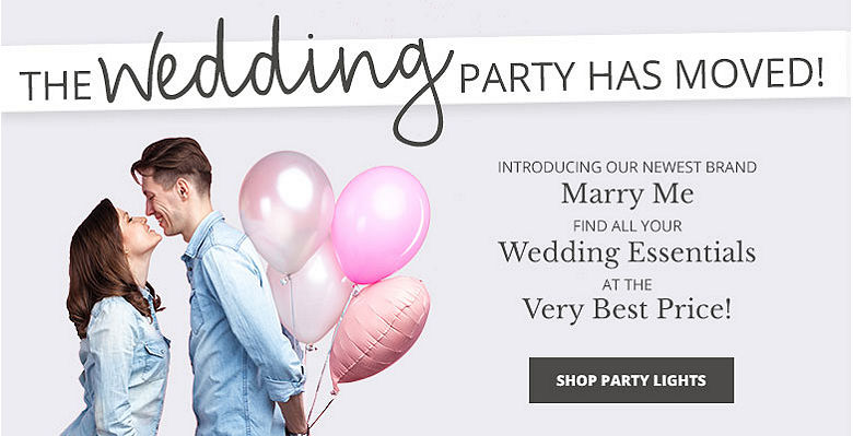 Shop party lights - Visit our new wedding website Marry Me. Find all your wedding essentials at the very best prices.