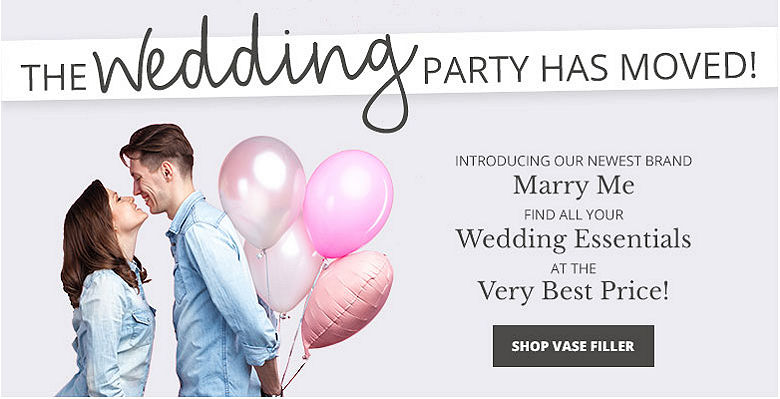 Shop vase filler - Visit our new wedding website Marry Me. Find all your wedding essentials at the very best prices.