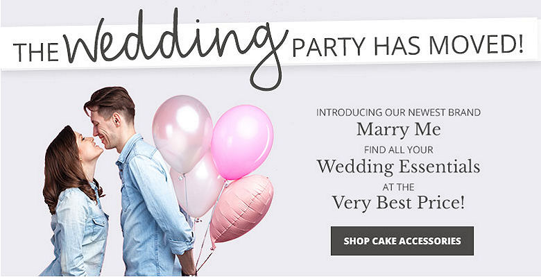 Shop cake accessories - Visit our new wedding website Marry Me. Find all your wedding essentials at the very best prices.