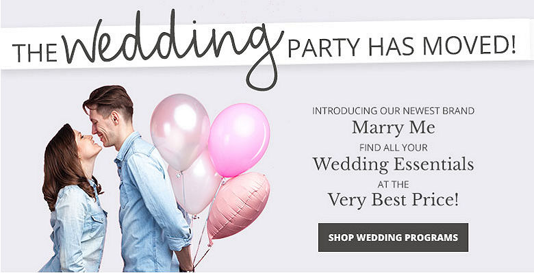 Shop wedding programs - Visit our new wedding website Marry Me. Find all your wedding essentials at the very best prices.