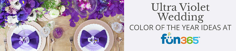 Pantone of the Year - Ultra Violet Wedding Ideas By Fun365