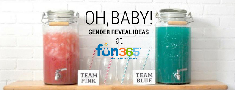 Christmas Gender Reveal Theme.Gender Reveal Party Supplies Decorations Orientaltrading Com