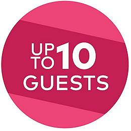 Up to ten guests