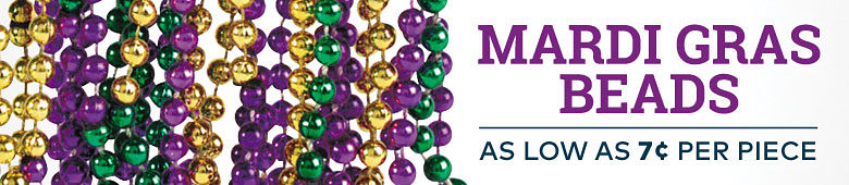 Mardi Gras Beads - starting at 7 cents per piece