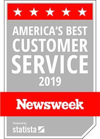 Voted America's Best Customer Service 2019 by Newsweek Magazine