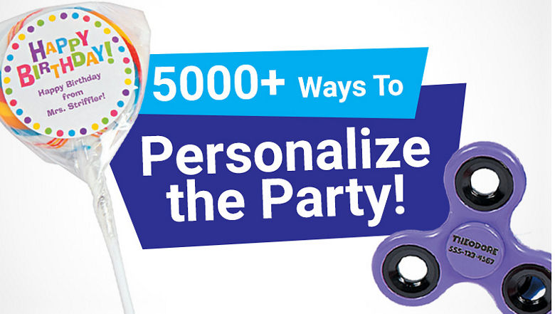 Over 5,000 ways to personalize the party