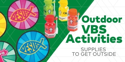 Outdoor VBS activities. Supplies to get outside