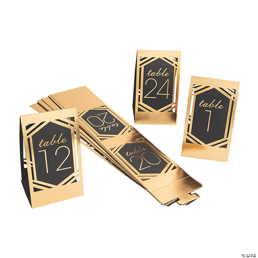 1 - 24 Black & Gold Die Cut Table Numbers Audio Thumbnail
