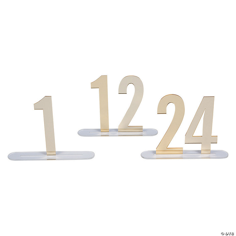 1 - 24 Gold Mirror Table Numbers Audio Thumbnail