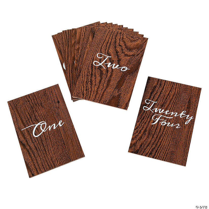 1-24 Wood Grain Table Numbers