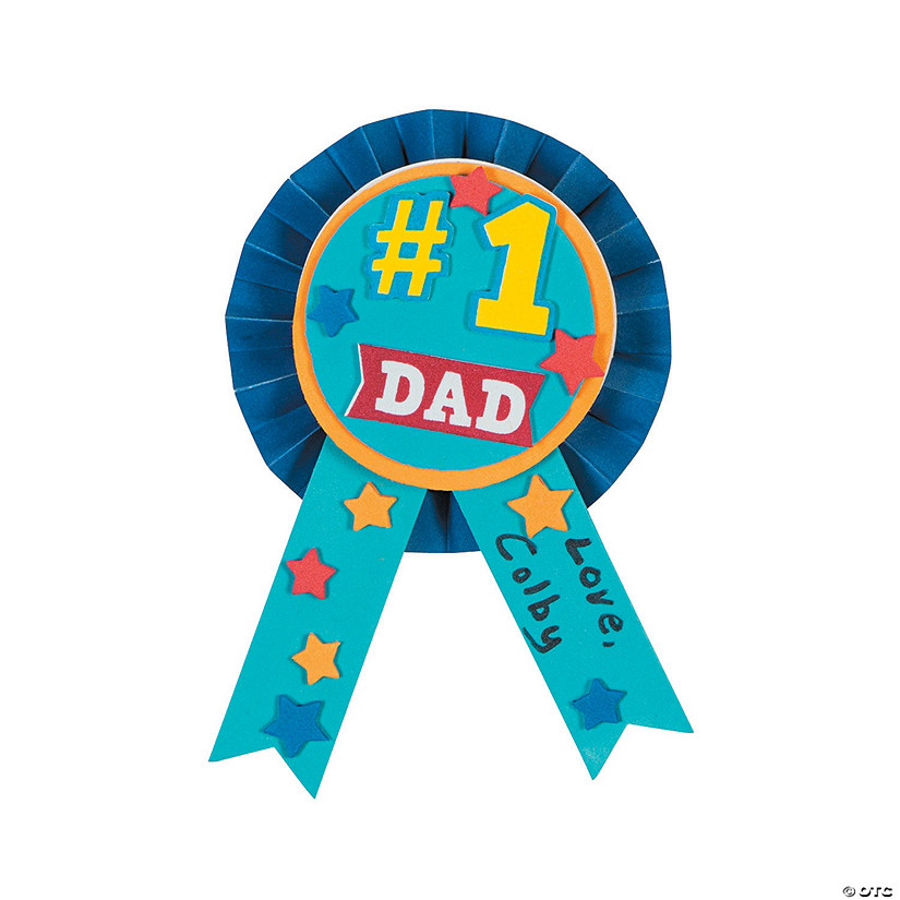 #1 Dad Award Ribbon Craft Kit Audio Thumbnail