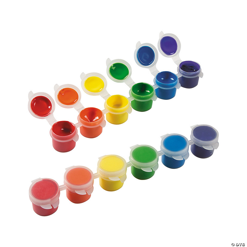 1-Oz. Assorted Colors Acrylic Paint Strip Classpack - Set of 6