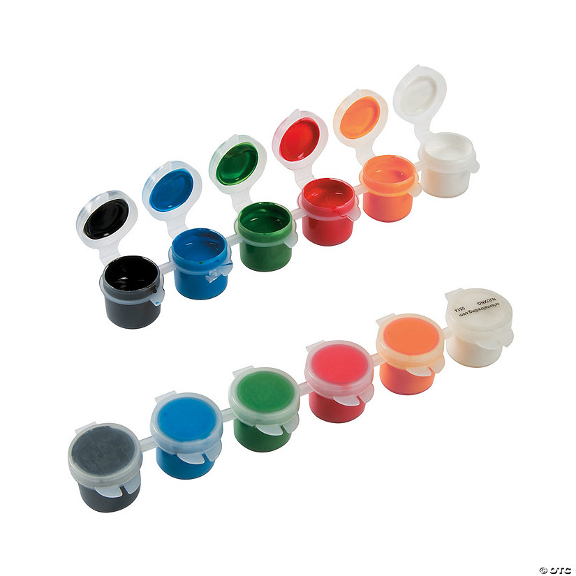 1-Oz. Basic Assorted Colors Acrylic Paint Classpack - Set of 6