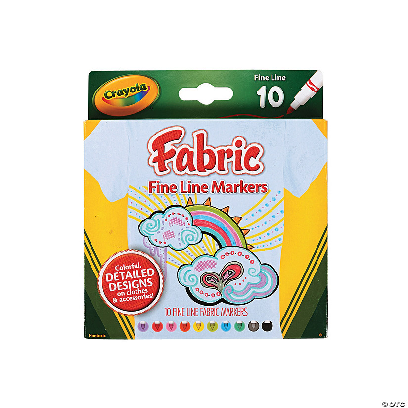 10-Color Crayola<sup>&#174;</sup> Fabric Markers Image Thumbnail