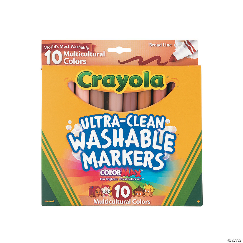 10-Color Multicultural Crayola® Ultra-Clean Washable Markers Audio Thumbnail