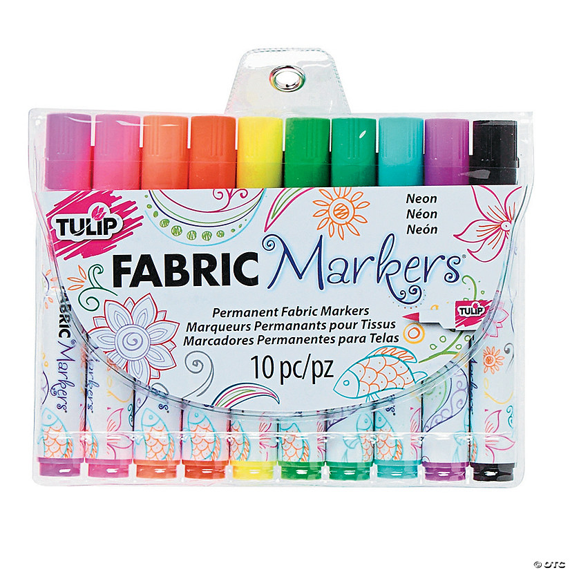 10-Color Neon Tulip<sup>&#174;</sup> Fabric Markers Audio Thumbnail