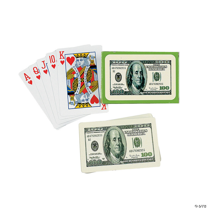 $100 Bill Playing Cards Image Thumbnail