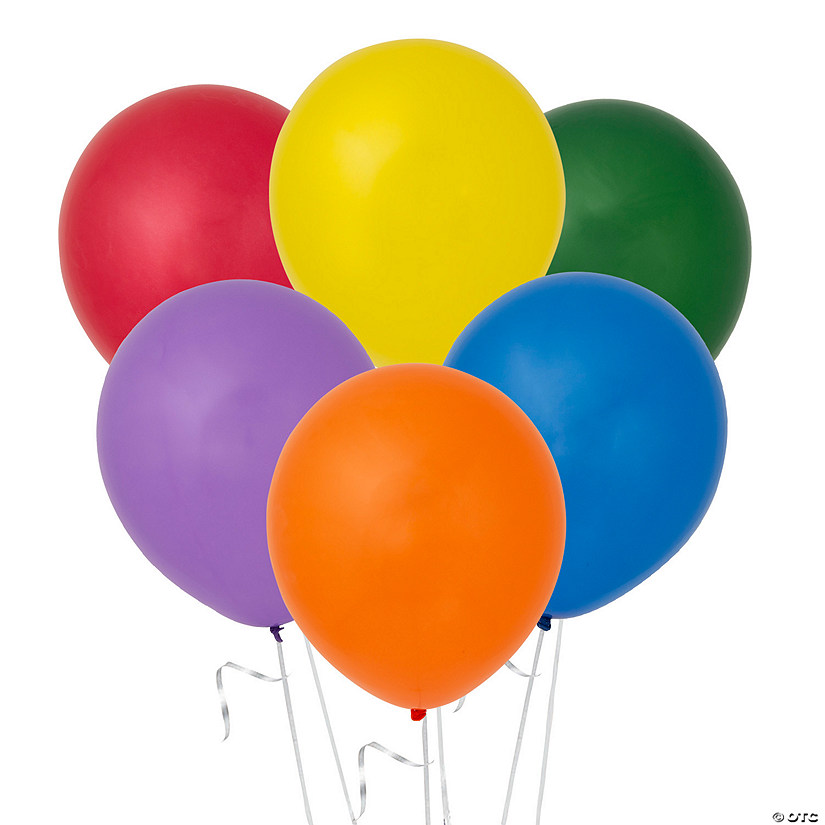 "11"" Assorted Latex Bright Balloons"