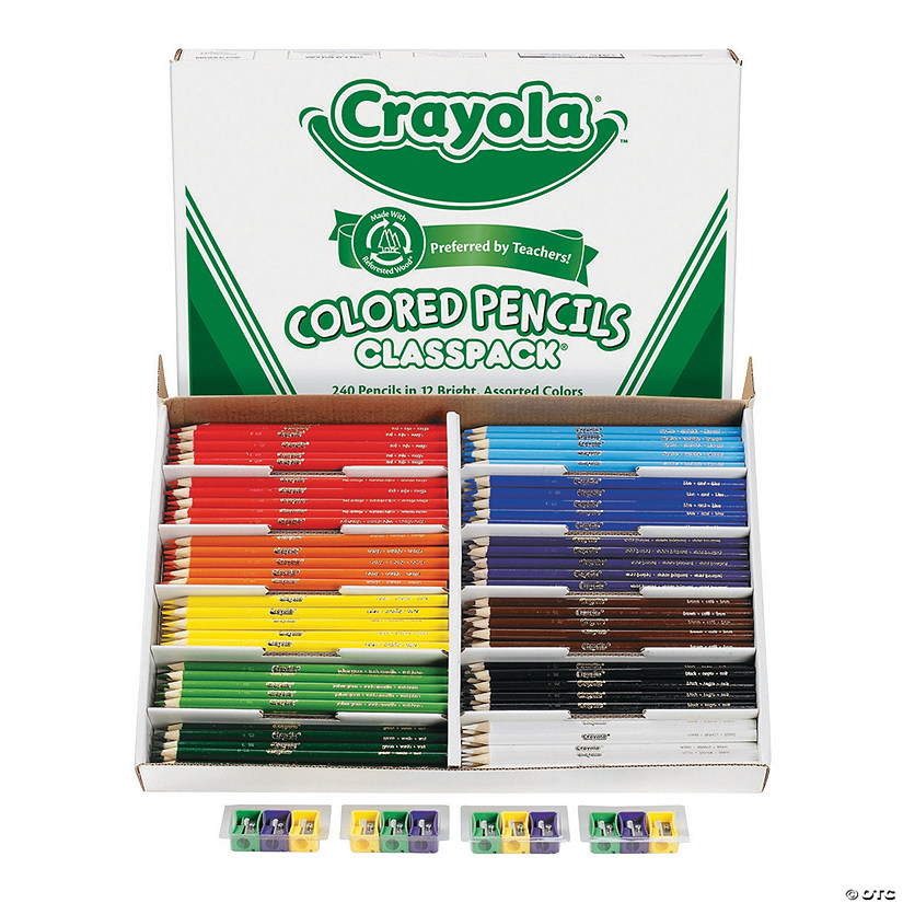 12-Color Crayola<sup>&#174;</sup> Colored Pencils Classpack<sup>&#174;</sup> - 240 Pc. Audio Thumbnail