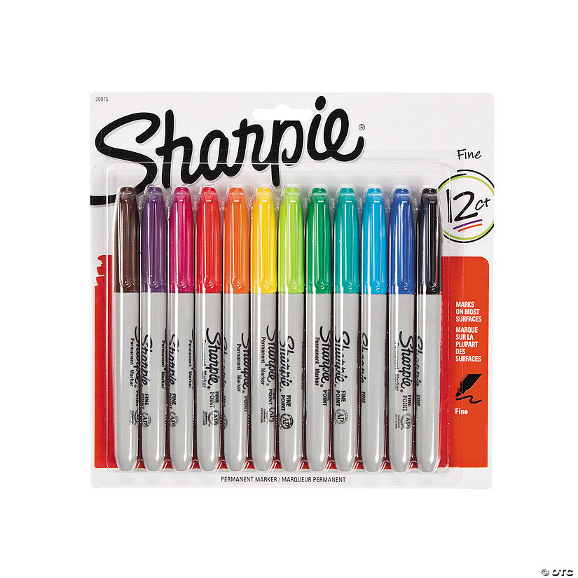12-Color Sharpie<sup>®</sup> Fine Point Permanent Markers